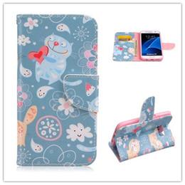 Цветковые деревья для продажи-Кожаный бумажник чехол для Samsung Galaxy S7 плюс S7edge кредитных карт слоты Крышка с держателем Цветок Жираф дерева Медведь птица бабочка Слон