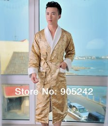 Wholesale fashion new style silk heated bamboo fiber bathrobe for man with slipper