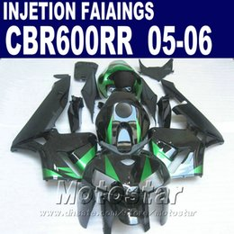 Black with green parts! Injection Molding for HONDA CBR 600 RR fairing 2005 2006 cbr600rr 05 06 cbr 600rr custom fairing VCD7
