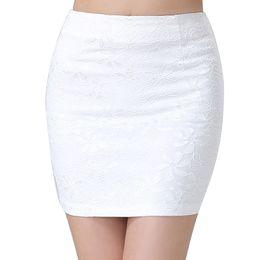 Wholesale Sexy Mini Skirt Tube - Summer Mini Lace Pencil Skirt Sexy Women Stretch Tight Bodycon Tube BandageDress H2125Y