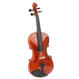 Wholesale 4 Full Size Natural Acoustic Violin Fiddle with Case Bow Rosin for Violin Beginner MIA_136