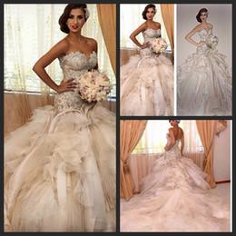 Wholesale Luxury Bridal Gown Gorgeous Cathedral Wedding Gowns Elegant vestido de noiva Sereia Luxury Mermaid Wedding Dresses