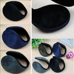 Wholesale-Mens Womens Soft Fleece Earmuff Winter Ear Muff Wrap Band Warmer Grip Earlap Gift