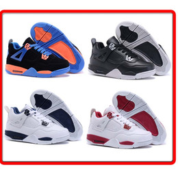 Wholesale Free Shiping Cheap Children Athletic Retro Boys And Girls IV Sneakers Kids Basketball Shoes New In Box For School Season