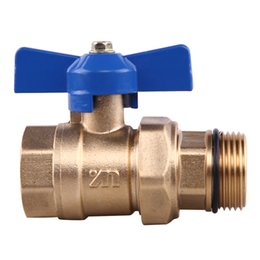 Wholesale Zangwill outside the wire joint ball valve brass outside the wire joint ball valve sub catchment valve dn25
