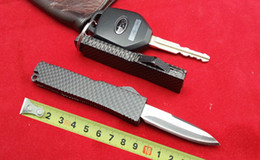 Wholesale 201503 New Mini pocket knife blade blade black Carbon fiber camouflage handle small EDC keychain knife g best christmas gift B20L