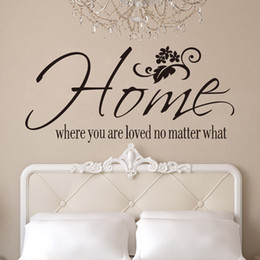 2015 English letter Wall stickers home where you are living room background Removable Wall Decal Stickers Art Home Decor