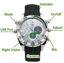 Caméra 8gb en Ligne-Hot vente 8GB Spy Watch Video Recorder caméra cachée DVR Caméscope étanche 1280x960 free shipping