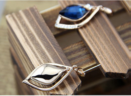Wholesale 2015 Fashion Jewelry Stores Online Pairs Drop Earrings For Girls With Crystal European Style Blue Earings Party Supplies Hot Sales Earring
