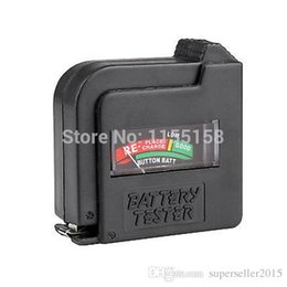 Wholesale New AA AAA C D V V Universal Button Cell Battery Volt Tester Checker T1469 W0 SYSR