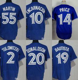 Unisex Toronto Josh Donaldson Russell Martin David Price Edwin Encarnacion Troy Tulowitzki José Bautista Blue Baseball Jerseys