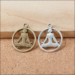 Wholesale Vintage Yoga Sport Charms Fit Necklace Bangle AAC1095