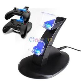 2017 xbox dual USB Rápido cargador con adaptador de soporte para Dual Dock Station Xbox Un dispositivo de juego xbox dual baratos