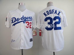Wholesale 2017 New LA Dodgers Cooperstown Jersey Sandy Koufax Throwback M N Baseball Jersey Men s White Embroidery Stitched Jersey