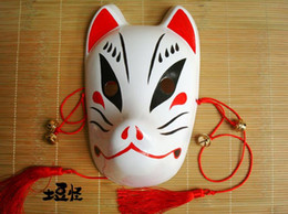 Hand- painted Fox Mask Endulge Japanese style Anime Miku Full Face PVC Halloween Animal Mask Masquerade Cosplay Party Masks