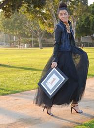Black Long Skirts 2015 Hot Selling New Arrival Casual Women Dresses Women Girls Skirts 5 Layers Lady Skirt Women Clothing