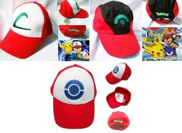 Wholesale Visor Cap POKEMON ASH KETCHUM COSTUME Cosplay Hat style can choose