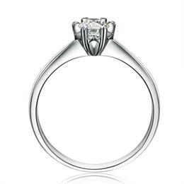 925 Sterling Silver women Fine jewelry Wedding Engagement Ring 1 Ct Princess Cut Created Diamond Jewelry