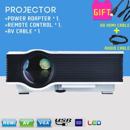 Wholesale 2015 New Unic UC40 Projector Mini Portable Projector AV A V USB SD HDMI Projector Pico LED Projector for PC Phone PS3 Cables