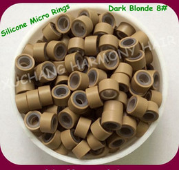 ( 1000pcs bag ) 4.5mm Dark Blonde Aluminum Silicone Micro Rings for Pre-tip Hair Extensions Hair Extension Tools