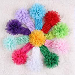 Baby Girl Headbands Chiffon Hand Sewing Headwear Toddler Head Big Flower Hair Accessories Kids Head Band Newborn Headbands