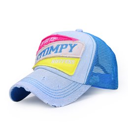 Wholesale Summer new spell color men and women with disabilities fashion lovers baseball cap mesh cap visor