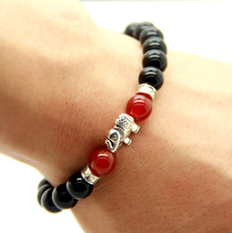 New Products Wholesale Good Luck Antique Silver Plated Elephant Yoga Meditation Lotus Bracelet Jewelry Party Gift