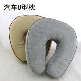 Wholesale U type high grade automobile headrest pillow amp neck pillow slow rebound memory foam pillow for travel