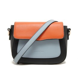 Women Vintage Patchwork Shoulder Bag High Quality Menssenger PU Leather Crossbody bags GH50009