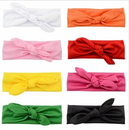 16 Colors Baby Cotton Headband Knot Tie Headband Headwrap Vintage Head Wrap Photo Prop Stretchy Knot Girls Hair Accessories