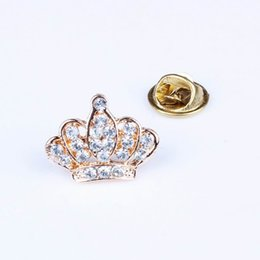 Tiare broche strass à vendre-Rhinestone Tiara Brooch Charmants Bijoux Stylish Breast Pins pour mariage Party XZ0007 * 1