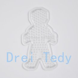 Wholesale-Small Boy PegBoards for 5mm Perler Beads Hama Beads Fused Beads