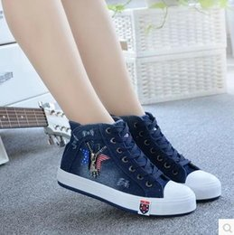 Wholesale In the autumn of high boots cowboy help female canvas shoes in summer Han edition flat sandals XueShengChao cloth shoes