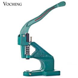 Wholesale VOCHENG NOOSA Metal Manual Grommet Machine Hand Press Eyelets Spot Snap Button Punch Tool NN