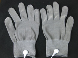 Conductive Electrode Gloves Body Relax Massager Reuse Physiotherapy massage Gloves Silver Fiber Acupuncture Massage Gloves