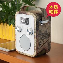 Acheter en ligne Boîte de haut-parleur de radio-Audio home speaker lecteur mp3 fm support radio CARD Lecture haut-parleurs sans fil HIFI BOX SPEAKER