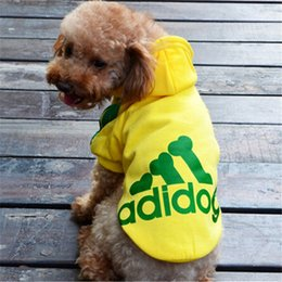 Wholesale Personalised Pet Dogs Fashion Autumn Collection Coat Jacket Clothing Sweatshirts Dogs Winter Warm Short Sleeve Hoodie Sportswear Apparel XL