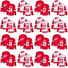 2018 New Detroit Red Wings 10 Alex Delvecchio 72 Andreas Athanasiou 24 Bob Probert 14 Brendan Shanahan 17 Brett Hull Hockey Jerseys