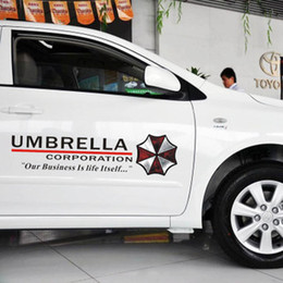 Wholesale Car styling Resident Evil personalized stickers Umbrella Corporation cars door sticker and decals accessories
