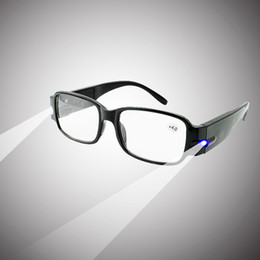 Wholesale 2015 Brand New Unisex Multifunction LED Reading Glasses Presbyopia Presbyopic Lighted Magnifying Head Lamp More Type