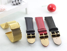 Wholesale 100 real picture quality fashion leisure and business brand Men Women watches leather strap Gold steel strap watch Larsson jennings