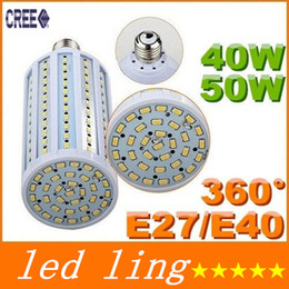 Promotion e27 smd ce CE ROHS + E27 E26 B22 E40 High Power 40W 50W Led Lamp Corn 360 Angle SMD 5630 LED Ampoules