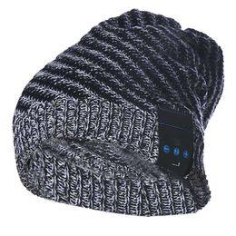 Wholesale Tonsee winter Soft Wool Hat Wireless Bluetooth Smart Cap Headset Headphone Speaker Mic Bulk purchase