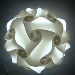 Wholesale DIY Modern Pendant Ball novel iq lamp puzzle pendants white color pendant lights size cm cm cm YSLIQW