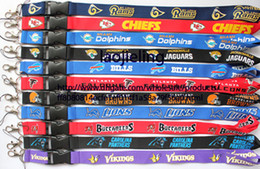 Wholesale NEW Football Baseball Key Lanyard Mobile neck strap Mix color working card lanyard