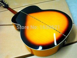 Wholesale acoustic guitar Sunburst electric acoustic guitar inch custom guitar