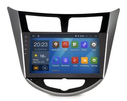 Wholesale Quad Core Din Pure android Car GPS for Hyundai Verna Solaris I25 with Capacitive G CPU G RAM Radio Tape Recorder