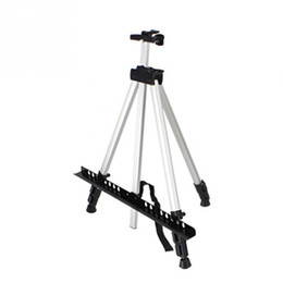Wholesale Aluminium Alloy Folding Artist Painting Easel Display Stand Art Sketch Exhibition Adjustable Tripod