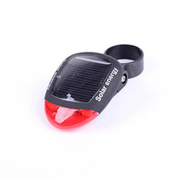 Wholesale Durable Solar Bicycle Tail Lights Precious Black LED Bike Lights with Two LEDs High Quality Nice Outlook Hot Sale