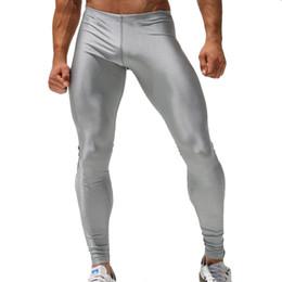 Wholesale-Men High Stretch Tight Pants Gym Long pants Low Waist Sexy Mens Legging Pant Brand Sports Running Pants Sexy Designed Sweatpants